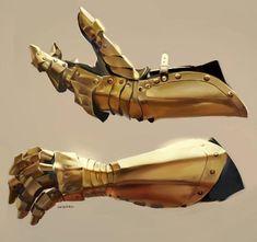 Version 1 gauntlet designed by David J Guyton. Templates available for purchase at, armor templates. Digital Painting Tutorials, Digital Art Tutorial, Art Tutorials, Armadura Medieval, Fantasy Armor, Fantasy Weapons, Armor Concept, Concept Art, Knight Armor