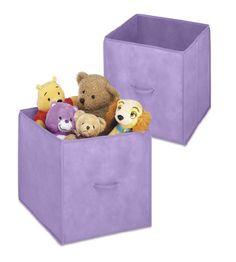 Whitmor Purple 14 Inch Collapsible Cube, 2 Pack · Storage CubesStorage BinsDorm  ...