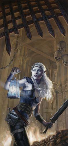 Elf Female Thief.