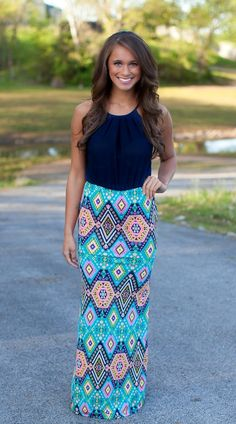 The Pink Lily Boutique - Crazy Stupid Love Maxi Funky Dresses, Cute Dresses, Casual Dresses, Modest Fashion, Love Fashion, Fashion Outfits, Maxis, Maxi Skirts, Pretty Outfits
