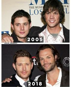 Look how far they've come! Jared Padalecki and Jensen Ackles.