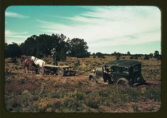 Team pulling a car out of the mud; the roads near Pie Town, New Mexico are not improved (LOC) | Flickr - Photo Sharing!