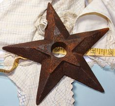 Large Rusty Metal STAR by VintageSupplyCo on Etsy, $8.00