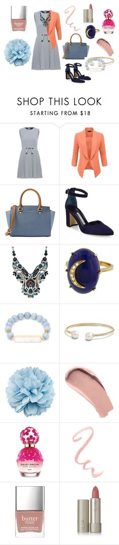 """""""when you want to look like a boss"""" by irma-septiany on Polyvore featuring RED Valentino, LE3NO, MICHAEL Michael Kors, Manolo Blahnik, Ayala Bar, Andrea Fohrman, Elise M., David Yurman, Gucci and Burberry"""