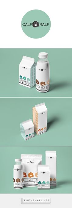 Calf Ralf on Behance by Katya Oposhnyanskaya Kiev, Ukraine curated by Packaging Diva PD. Really cute packaging design concept for milk.