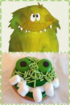 Gloups monstre vert biscuits recette enfants projet classe maternelle