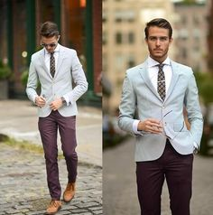 Light Grey and a darker maroon