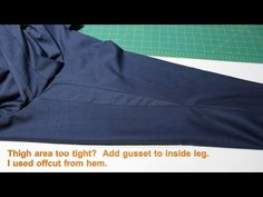 Add gusset inside leg trousers - YouTube