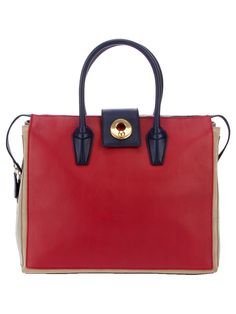 "Yves Saint Laurent - Bolsa Vermelha modelo ""muse two cabas"""