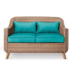 Enjoy a touch of classic elegance with the Mayhew All-Weather Wicker Loveseat from Threshold and upgrade your al fresco dining experiences. If you love to spend time in your outdoor space, you'll appreciate the quality that goes into this handsome wicker loveseat. Mix and match this outdoor furniture with other pieces from the Mayhew collection to make your patio as cozy as your living room.