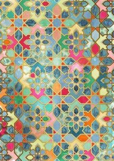 PATTERN COLOR Tile artwork Morocco Home Deco Artwork Color Morocco painted floor tiles bathroom pattern tile Tile Patterns, Pattern Art, Textures Patterns, Islamic Patterns, Patchwork Patterns, Zentangle Patterns, Pattern Design, Hexagon Patchwork, Hexagon Pattern