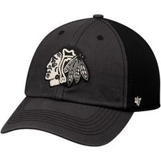 Men's Chicago Blackhawks '47 Black Humboldt Franchise Fitted Hat