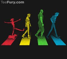 """Stray Dog Strut"" (Cowboy Bebop, Ed, Ein, Faye Valentine, Jet Black, Spike Spiegel, Beatles, Abbey Road)"