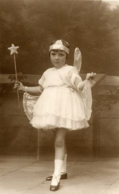 .  1930s vintage fairy Found image. Taken by Dorondo Mills Studios of Birmigham, Liverpool, Waterloo and Blackpool.