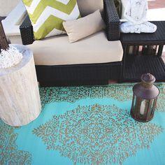 Udha Indoor/Outdoor Rug - Bohemian Beach Wedding Collection - Dot & Bo