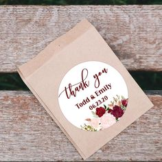 Marsala Thank You Sticker Favors Tags Printable Christmas Tags Printable, Holiday Gift Tags, Printable Tags, Printable Stickers, Craft Stickers, Clear Stickers, Thank You Stickers, 21st Birthday Gifts, Birthday Thank You