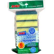 Scrub Sponges, 6-ct. Packs
