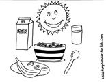 Breakfast cereal colouring page for healthy kids Breakfast Cereal, Healthy Eating Habits, Free Coloring Pages, Healthy Kids, Nutrition, Printables, Healthy Children, Free Colouring Pages, Print Templates