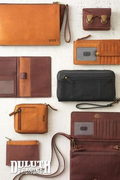 Our Lifetime Leather doesn't just come in bag form. We also have all the organizational pieces you need.