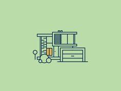 Home illustrations on Behance