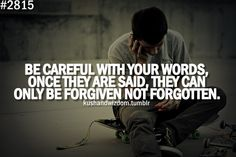 Be careful with your words. Important to teach campers.