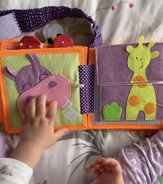 Handmade Quiet book, busy fabric book, felt book, first baby book - Our New PikaBooK Fox with not removable pieces for little ones from 6 months old. But my daughter E - Diy Quiet Books, Baby Quiet Book, Felt Quiet Books, Quiet Book For Toddlers, Toddler Crafts, Toddler Toys, Baby Toys, Infant Activities, Book Activities