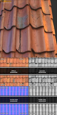 Roof 06.  A seamless roof texture from Game-Textures.com