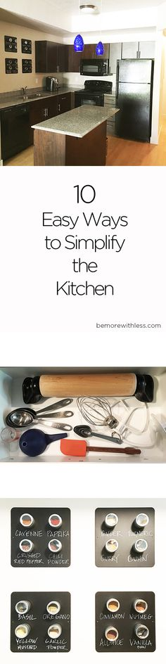 10 Easy Ways to Simplify The Kitchen (w/pics of my new kitchen) Kitchen Things, New Kitchen, Simple Living, Kitchen Organization, Declutter, Kitchens, Challenge, Group, Lifestyle