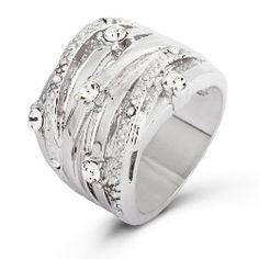 Seven Band CZ Highway Ring, $27 #cubiczirconiaring