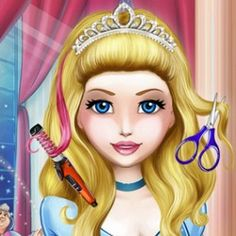 Cinderella Hair Cutting Games, Free Girl Games, Games For Girls, Hairdresser, Haircuts