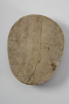 Saami runic drum from Åsele Lappmark, Sweden. Medieval period or newer time. Historiska Museet, Stockholm