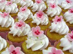 Caketutes Cake Designer: Cupcakes cerejeira - Cherry Blossom cupcakes