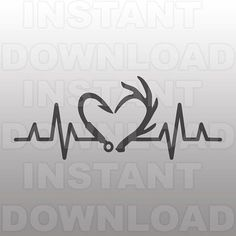 Heartbeat Fishing Hook Antlers SVG FileHunting SVGFishing svg -Personal & Commercial Use- cricut svgsilhouette svgvector svgvinyl files - Monogram Fishing Shirt - Ideas of Monogram Fishing Shirt Deer Hunting Tattoos, Deer Tattoo, Hook Tattoos, Body Art Tattoos, Tatoos, Deer Head Silhouette, Silhouette Studio, Silhouette Cameo, Bow Tattoo Designs