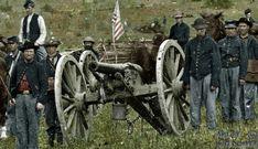 Union Battery on Antietam battlefield (colorized).