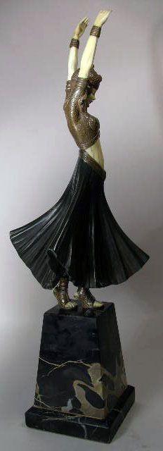 Demetre Chiparus - Art Déco - Sculpture - 'Danseuse Hindou' - 1925