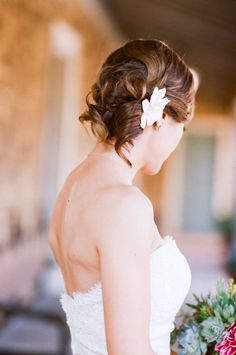 #hairstyles Photography + Cinematography by picotteweddings.com Floral Design by efflorescefloral.com  Read more - http://www.stylemepretty.com/2012/05/24/santa-barbara-historical-museum-wedding-by-events-by-ashley-w-picotte-weddings/