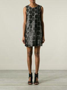 MSGM - waxed lace dress