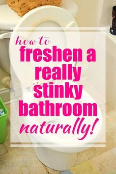 If you have boys, then you know what a really stinky bathroom is! This post shows How to Freshen a Really Stinky Bathroom - the kind that boys use. This is the only way I've found to really get rid of that grody, yucky smell.
