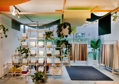 werner aisslinger creates a 'garden of wonders' — a small architectural hut — used to showcase kvadrat textiles Visual Merchandising, Simple Interior, Interior Design, Werner Aisslinger, Building A Cabin, Cologne Germany, Exhibition Stand Design, Retail Interior, Design Furniture