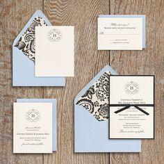 Wedding Invitation Ideas | Paper Source Flourish Monogram Wedding Invitation    Cynthia U0026 Jackson