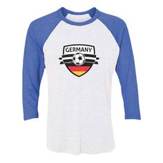 23b43edd1f9 Germany Soccer Team Deutschland Fans 3 4 Women Sleeve Baseball Jersey Shirt
