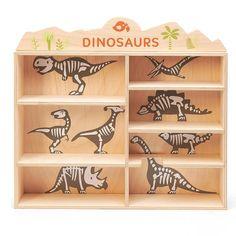 Wooden Dinosaurs Shelf Set