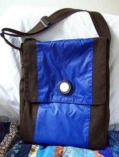 Nahtzugabe: Herrenhandtasche
