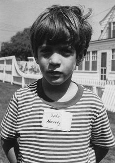 I love that the most famous child of an American president is wearing a name tag.