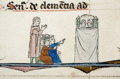 Ms. 251 from Brugge, 13th century: Puppet show http://www.pinterest.com/magpieblue23/motif/