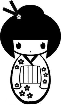 Kokeshi Doll. Para pintar.