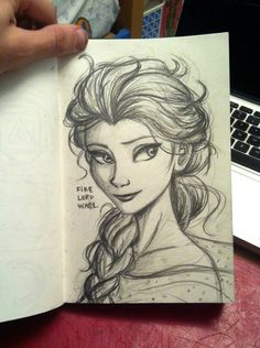 great sketch of Elsa