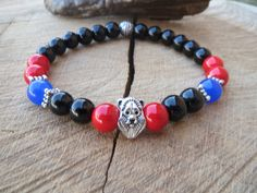 Men's Bracelet Men Bracelet Lion Bracelet by BohemianChicbead