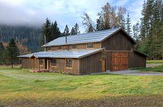 Pole Barns Living Quarters Custom Shop With Living