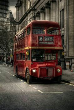 Old Routemaster London Bus.I'm fascinated with this, it's absolutely beautiful. London England, England Uk, London Bus, London City, London Underground, Foto Hdr, Routemaster, Double Decker Bus, Hdr Photography